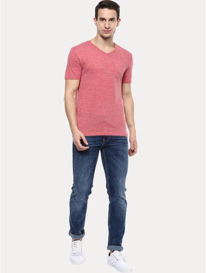 Pink Melange T-Shirt