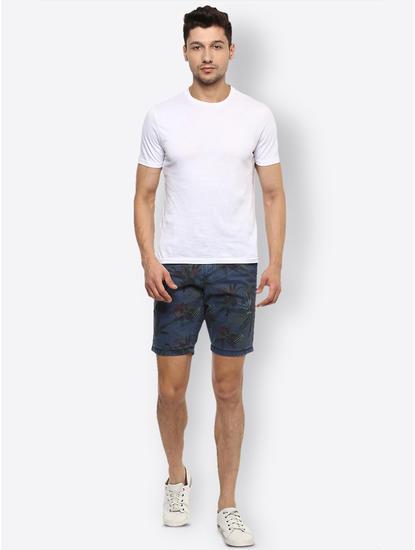 Blue Printed Shorts