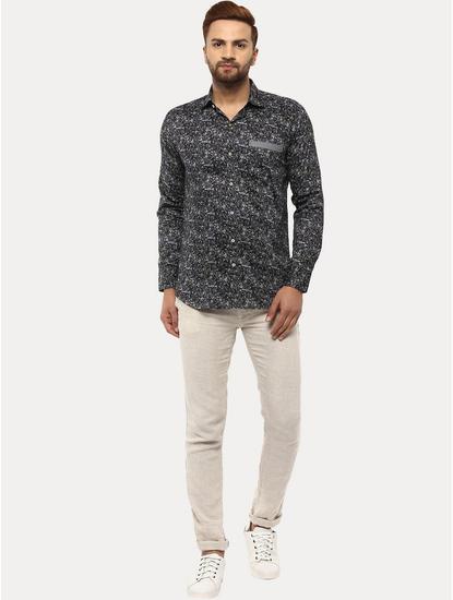 White 100% Linen Straight Pants
