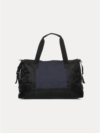 Indigo and Black Duffle Bag