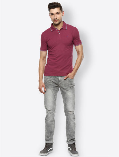 Grey Straight Jeans