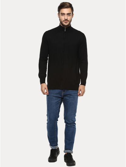 Black Solid Sweater
