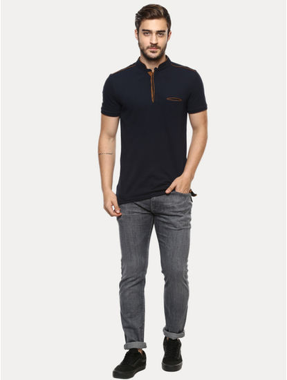 Soft Touch Grey Solid Straight Jeans