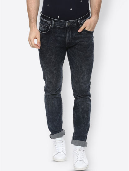 Dark Indigo Solid Straight Jeans