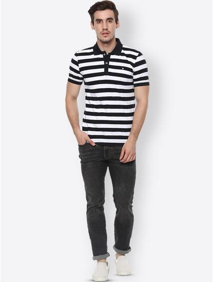 Dark Grey Solid Straight Jeans