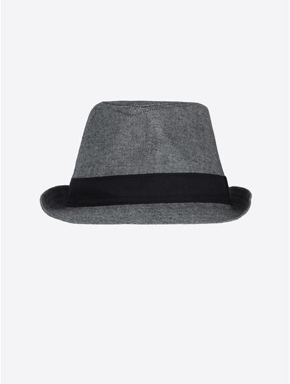 Grey Melange Fedora Hat