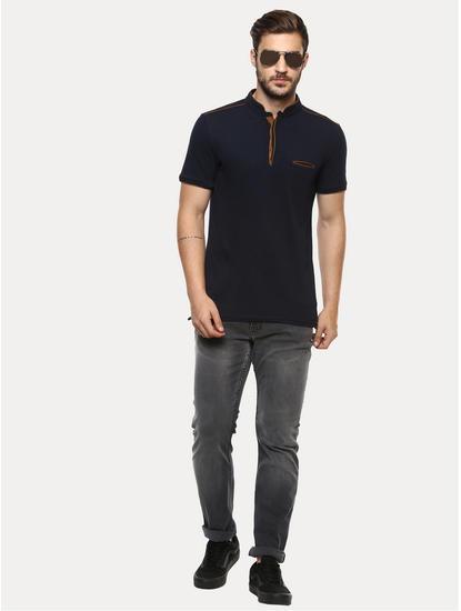 Powerflex Grey Solid Straight Jeans