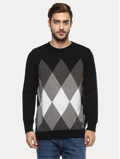 Black Checked Sweater