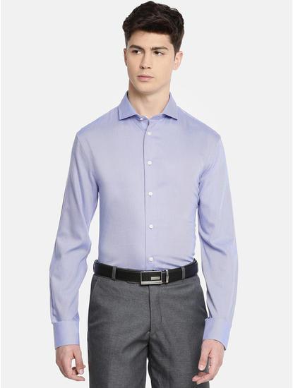 Blue Striped Slim Fit Formal Shirt