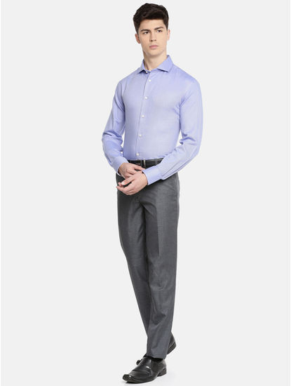Blue Striped Slim Fit Formal Shirt