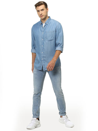 Soft Touch-Regular Fit Light Blue Shirt