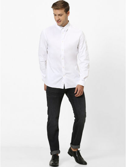 Soft Touch-Slim Fit Black Jeans