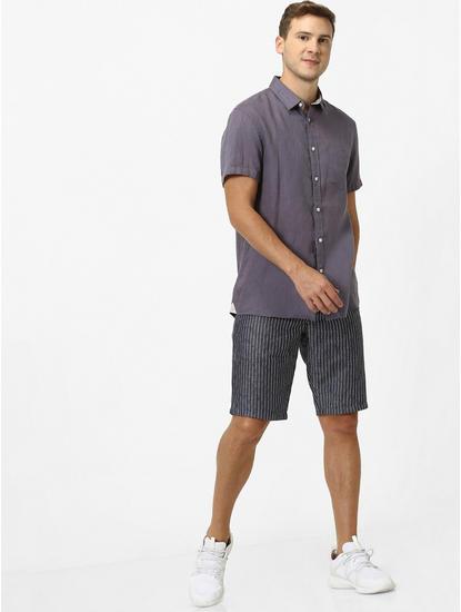 100% Linen Grey Shirt