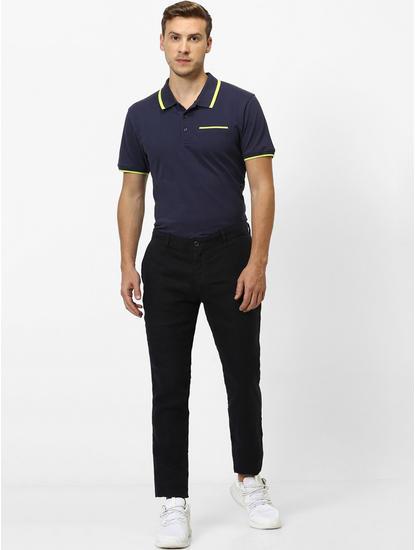100% Linen Slim Fit Indigo Pants