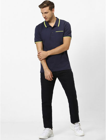 100% Cotton Navy Polo T-Shirt