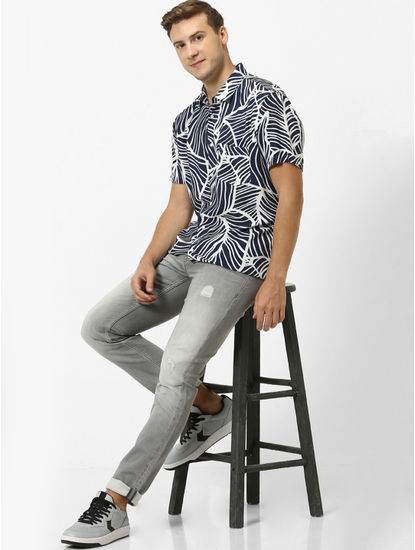 Soft Touch-Regular Fit Navy Shirt