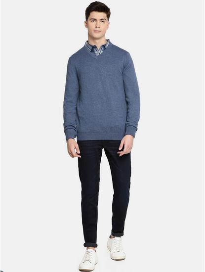 Blue Melange Sweatshirt