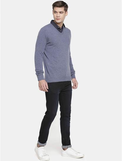 Blue Melange Sweater