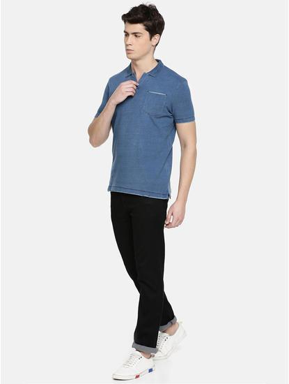 Light Blue Melange Polo T-Shirt