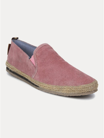 Pink Casual Slip-ons