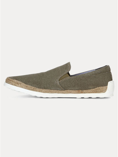 Olive Casual Slip-ons
