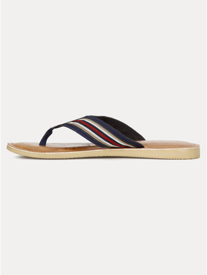 Navy and Red Flip Flops