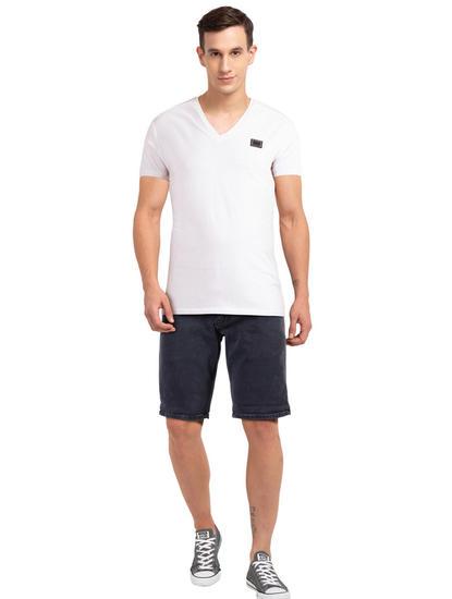 Grey Solid Shorts