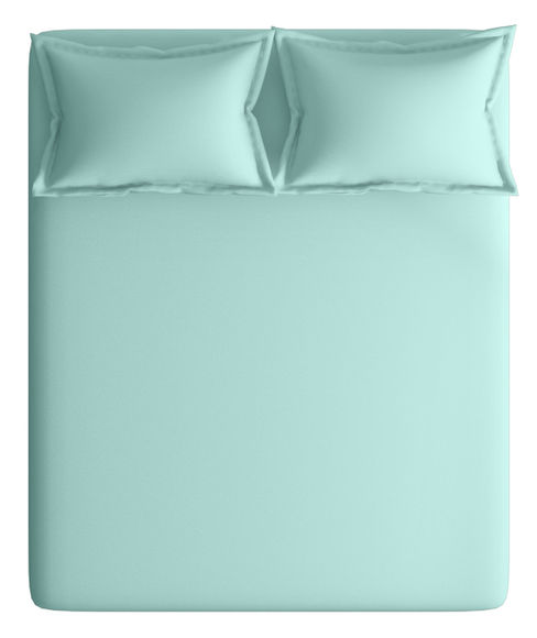 Mesmerising Light Blue Print Bedsheet With 2 Pillow Covers (100% Cotton, Super King Size) - Portico New York Supercale Collection