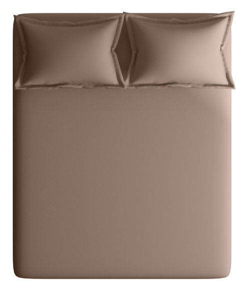 Peat Colour Bedsheet With 2 Pillow Covers (100% Cotton, Super King Size) - Portico New York Supima Collection