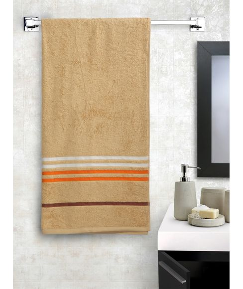 Frappe Beige Bath Towel, GSM - 550 (75 x 150cms) - Portico New York New Tiara Collection