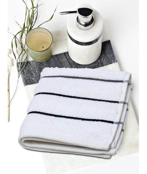 White Face Towel (30 X 30cms) - Portico New York New Myra Multi Stripe Collection