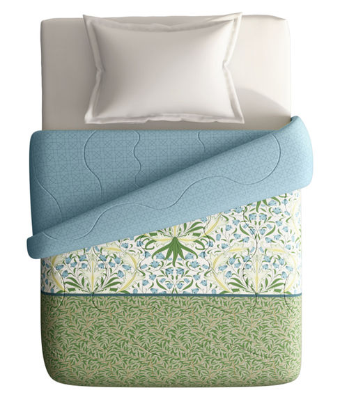 Foliage Inspired Pattern Single Size Comforter (100% Cotton, Reversible) - Portico New York Shalimaar Collection