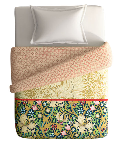 Intricate Pattern Single Size Comforter (100% Cotton, Reversible) - Portico New York Shalimaar Collection