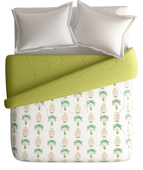 Banana Tree Motif Double Size Comforter (100% Cotton, Reversible) - Portico New York Shalimaar Collection