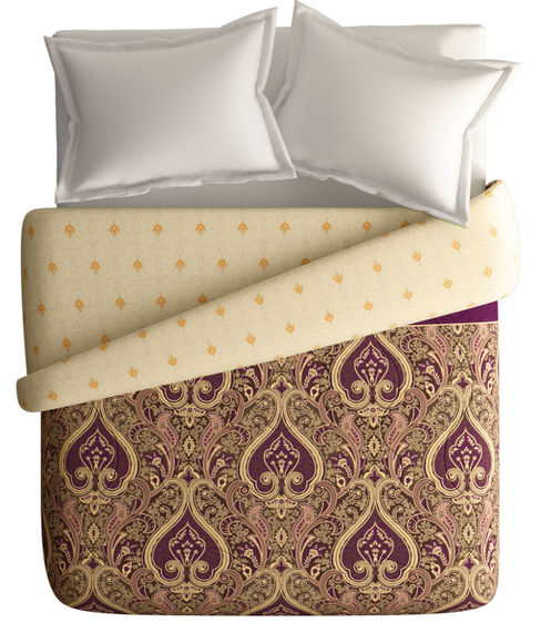 Quintessential Multi-Coloured Motif Print Double Size Comforter (100% Cotton, Reversible) - Portico New York Shubh Mangalam Collection