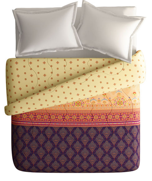 Luxurious Ethnic Print King Size Comforter (100% Fabric, Reversible) - Portico New York Neeta Lulla Collection