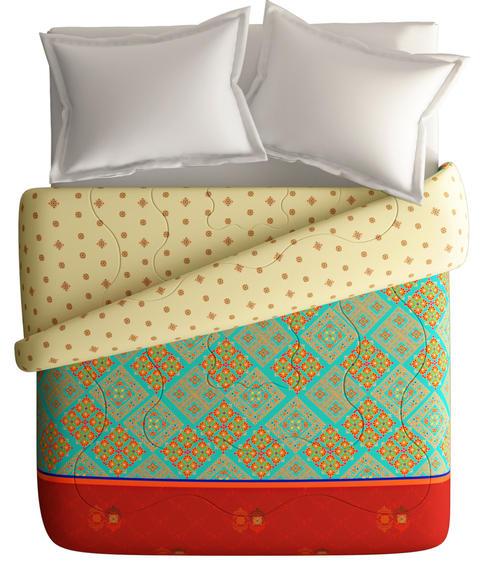 Bhuj Technique Print King Size Comforter (100% Fabric, Reversible) - Portico New York Neeta Lulla Collection