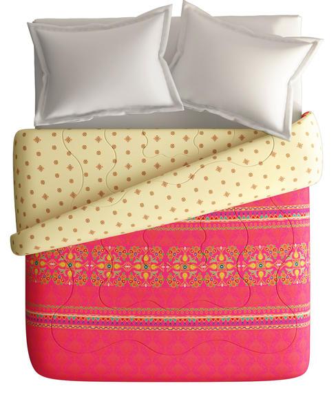 Minimal Traditional Print King Size Comforter (100% Fabric, Reversible) - Portico New York Neeta Lulla Collection