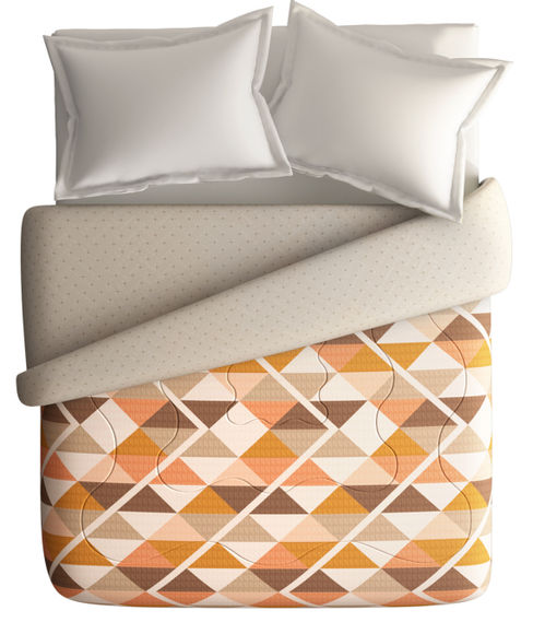 Geometric Print Double Size Comforter (100% Cotton, Reversible) - Portico New York Vienna Collection