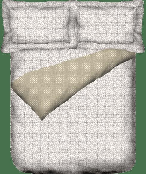 Geometric Print King Size Dohar (Cotton, Reversible) - Portico New York Melange Collection