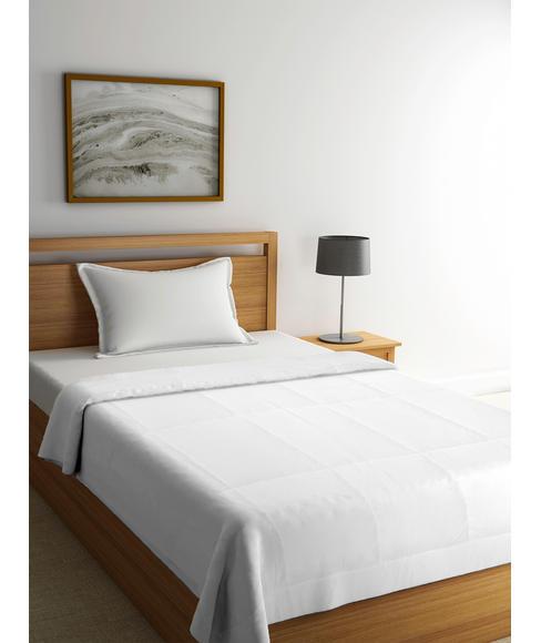 Optical White Single Size Duvet - Portico New York Soyabean Collection