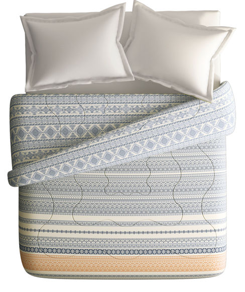 Inspiring Adire Print King Size Comforter (100% Cotton, Reversible) - Portico New York Africana Collection
