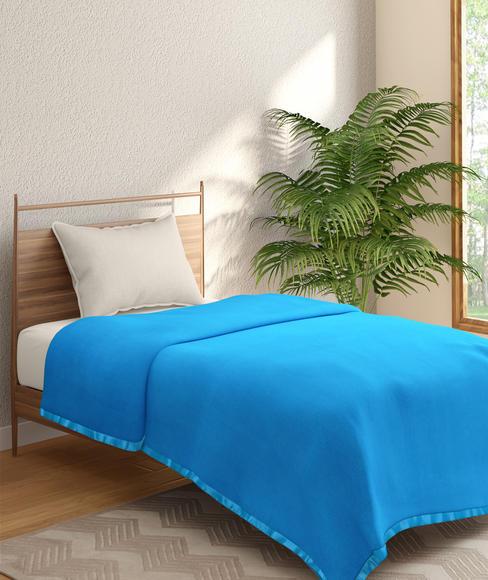 Cornflower Blue Blanket (Polar Fleece, Single Size) - Portico New York Melange Collection