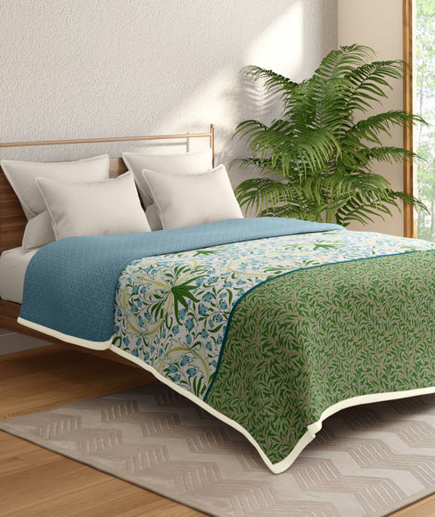 Ethnic Print Double Size Dohar (100% Cotton, Reversible) - Portico New York Shalimaar Collection
