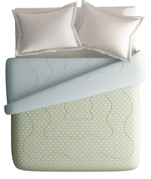 Diamond Pattern King Size Comforter (100% Cotton, Reversible) - Portico New York Melange Collection