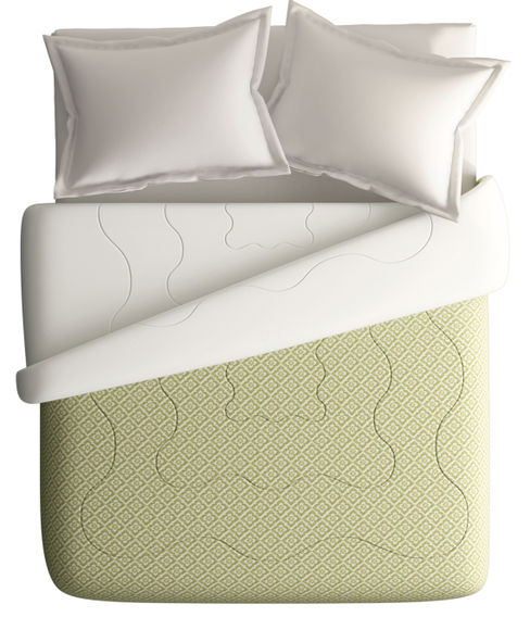 Forest Green Diamond Pattern King Size Comforter (100% Cotton, Reversible White Back) - Portico New York House of Misu Havana Collection