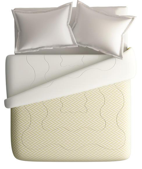 Beige Brown Sideways Ikat Print King Size Comforter (100% Cotton, Reversible White Back) - Portico New York House of Misu Havana Collection
