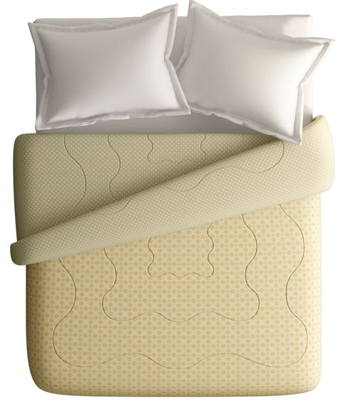 Beige Intricate Pattern King Size Comforter (100% Cotton, Reversible) - Portico New York Melange Collection