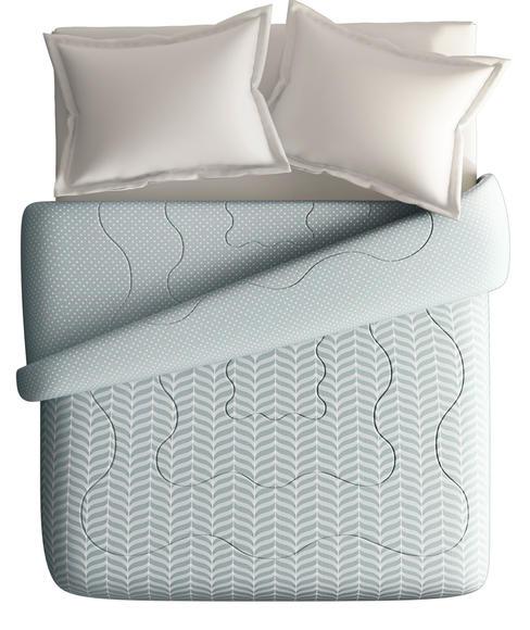 Subtle & Minimal Print King Size Comforter (100% Cotton, Reversible) - Portico New York Melange Collection