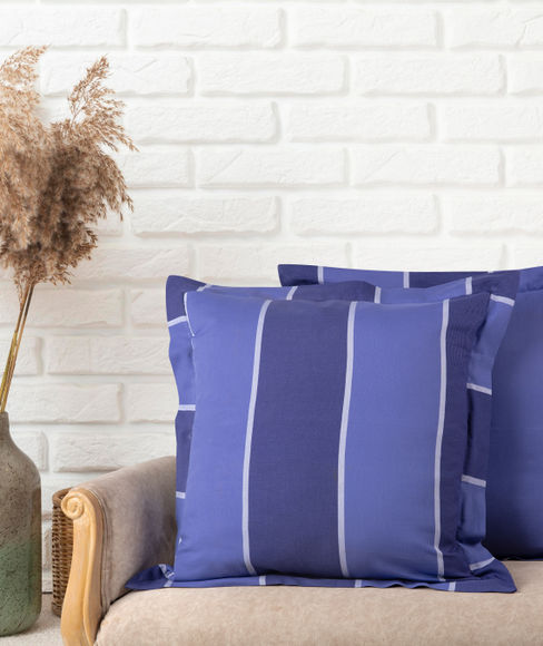 Blue Striped Sham Covers (Set of 2) - Portico New York Havelock Collection